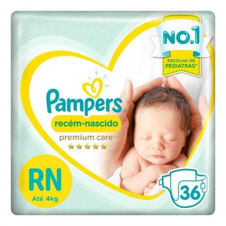 Fralda Pampers Recém-nascido Premium Care
