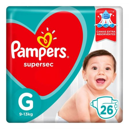 Fralda Pampers SuperSec Tamanho G