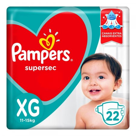 Fralda Pampers SuperSec Tamanho XG