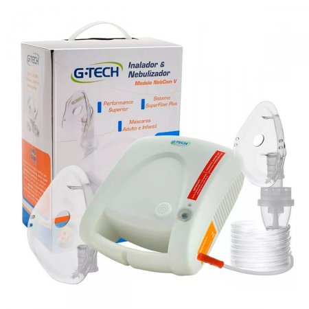Inalador e Nebulizador G-Tech Nebcom V