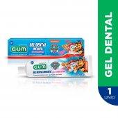 Gel Dental Infantil G.U.M. Patrulha Canina Sabor Bubble Gum com 50g