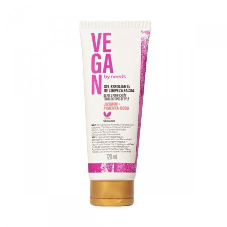 Esfoliante Facial Vegan by Needs Jasmim + Pimenta Rosa 120ml | Drogasil.com Foto 1