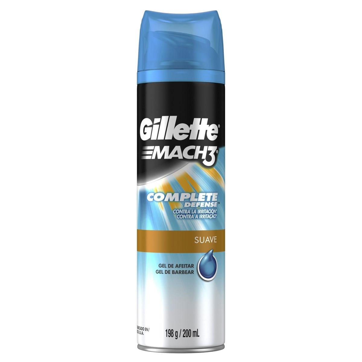 Gel de Barbear Gillette Mach3 Complete Defense com 198g 198g