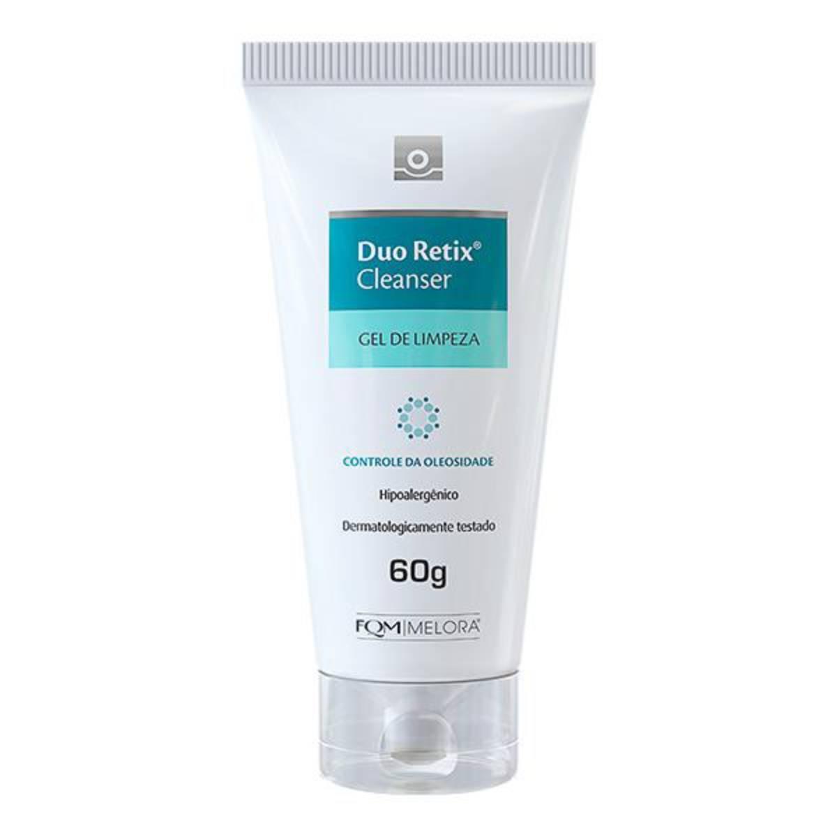 Gel de Limpeza Facial FQM Duo Retix Controle da Oleosidade com 60g Melora 60g