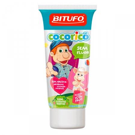 Gel Dental Bitufo Cocoricó Sem Flúor Sabor Tutti Fruti