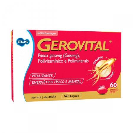 Gerovital com 60 Cápsulas | Drogasil.com Foto 1