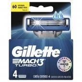 Carga para Aparelho de Barbear Gillette Mach3 Turbo