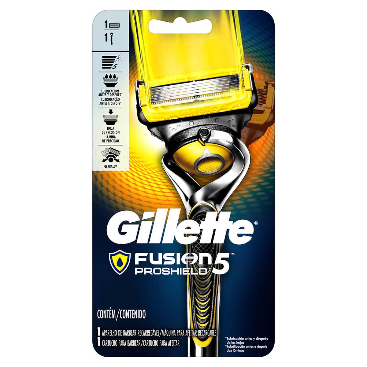 Aparelho de Barbear Gillette Fusion Proshield com 1 unidade 1 Unidade