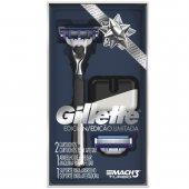 Kit Aparelho de Barbear Gillette Mach 3 Turbo Edição Limitada