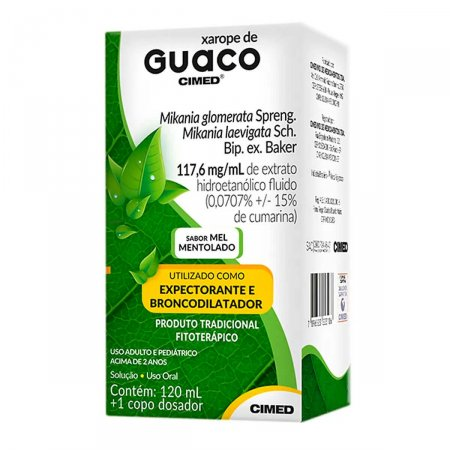 GUACO CIMED 117,6MG/ML SOLUCAO ORAL 120ML