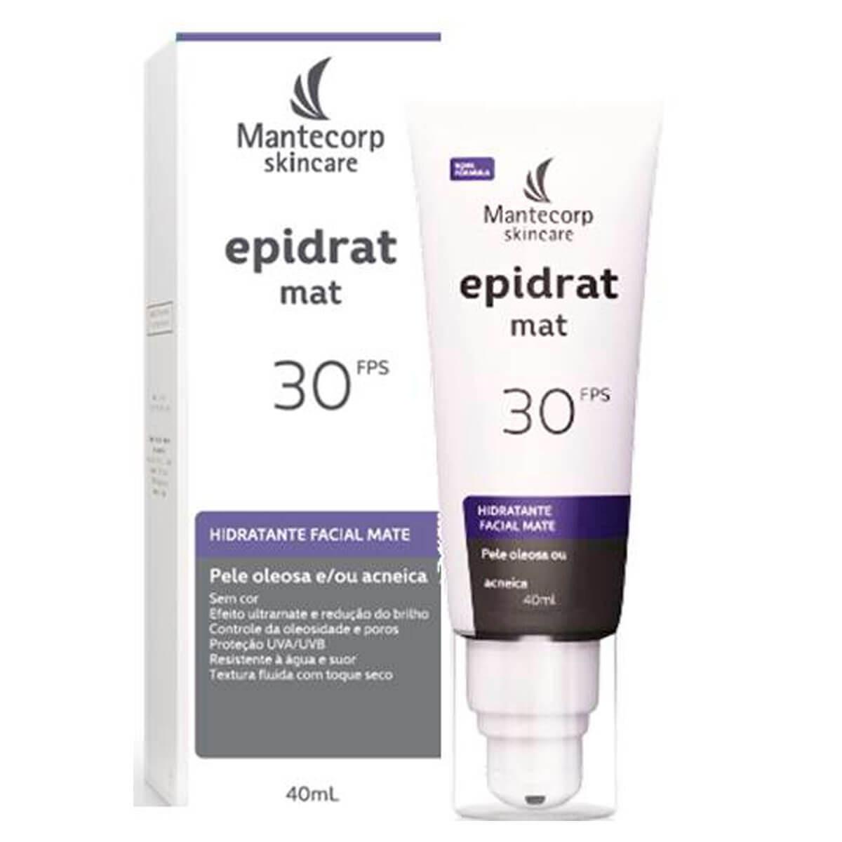 Hidratante Facial Mate Epidrat Mat Mantecorp Sem Cor FPS 30 com 40ml 40ml