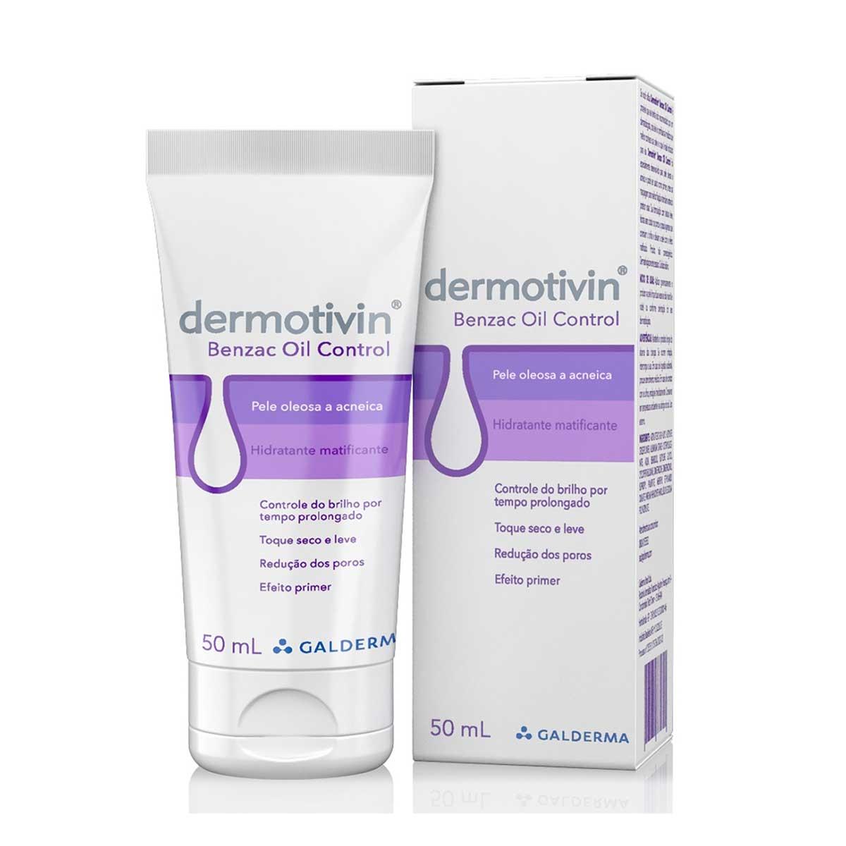 Hidratante Matificante Dermotivin Benzac Oil Control Pele Oleosa e Acneica com 50ml 50ml