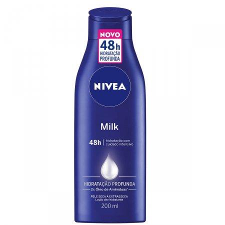 Loção Deo-Hidratante Nivea Milk Pele Seca a Extrasseca 200ml | Drogasil.com Foto 1
