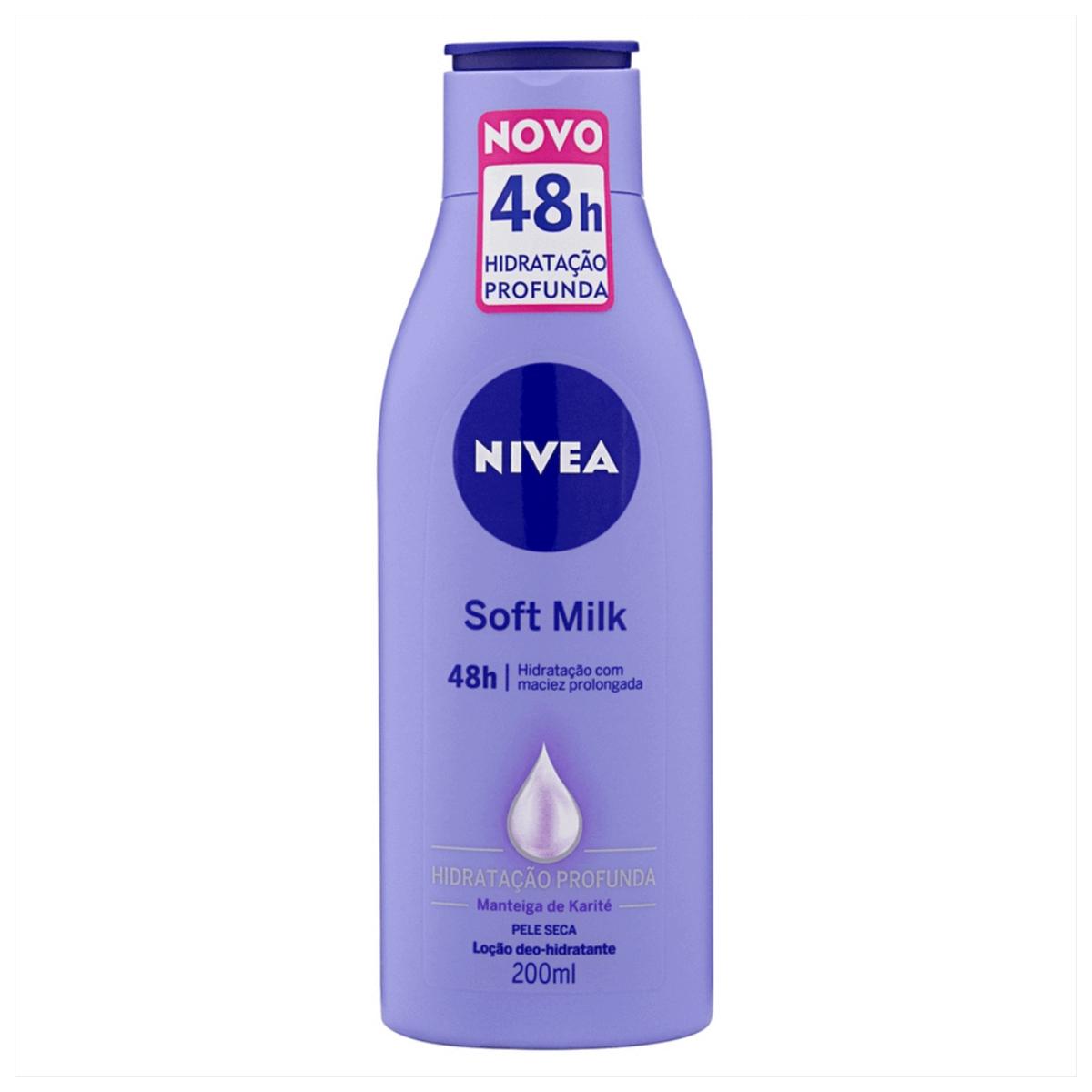 Hidratante Desodorante Nivea Soft Milk 200ml