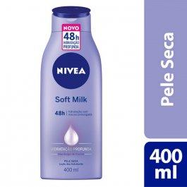 Hidratante Desodorante Nivea Soft Milk Pele Seca com 400ml