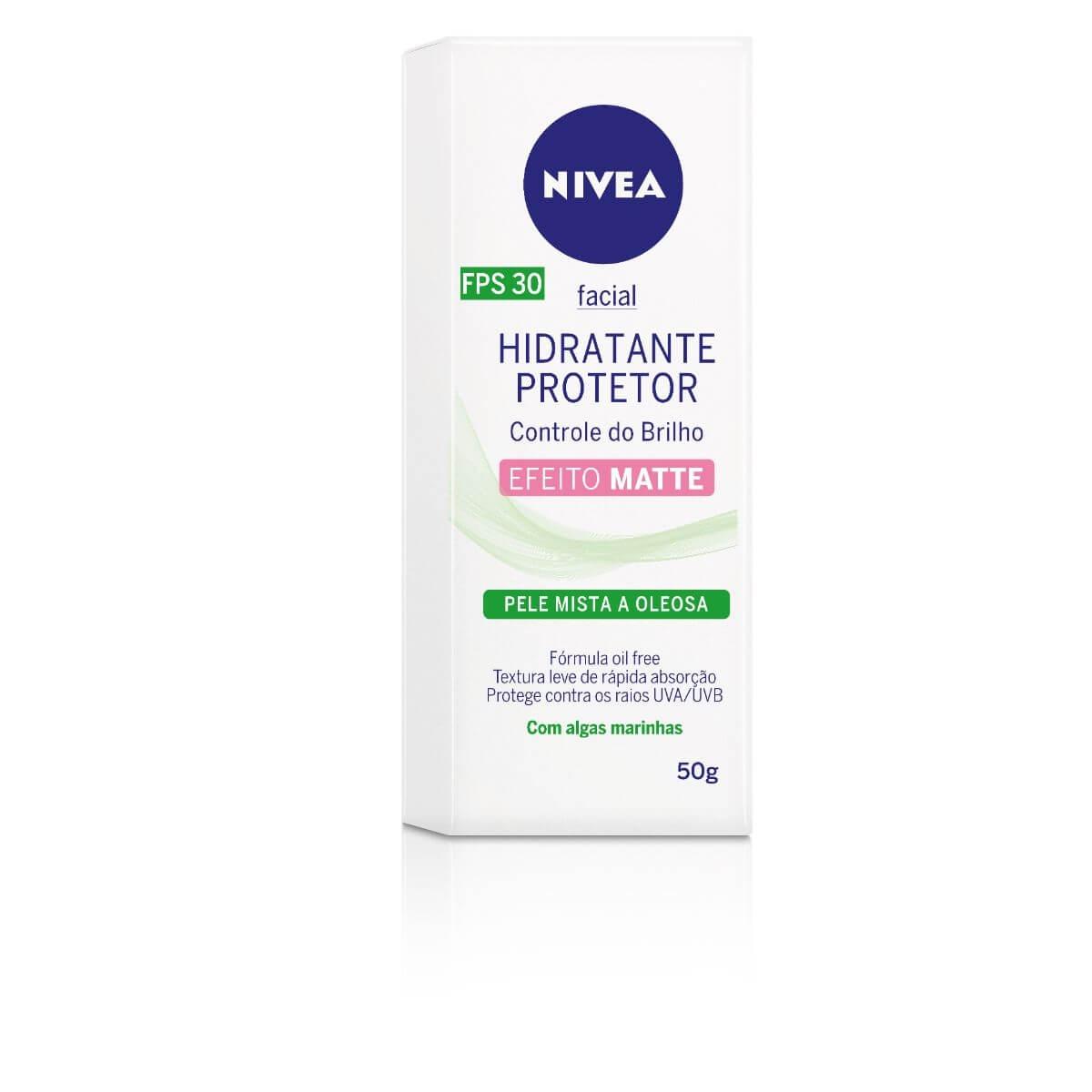 Hidratante Protetor Facial Nivea Controle do Brilho e Oleosidade FPS 30 com 50ml 50ml