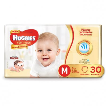 HUGGIES FRALDA PANTS SOFT TOUCH JUMBO M 30 UNIDADES