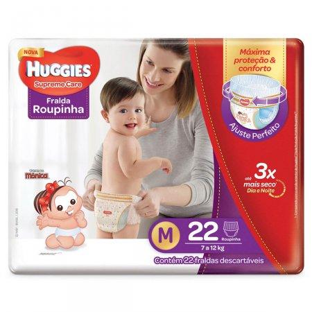 Huggies Supreme Care Fralda Roupinha Tamanho M 22 unidades | Drogasil