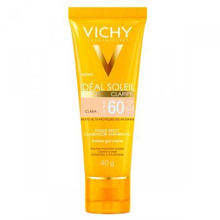 Protetor Solar Vichy Ideial Clarify FPS60 Pele Clara
