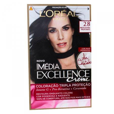 Coloração Imédia Excellence Creme N°2.8 N°2.8 Preto Extra Profundo