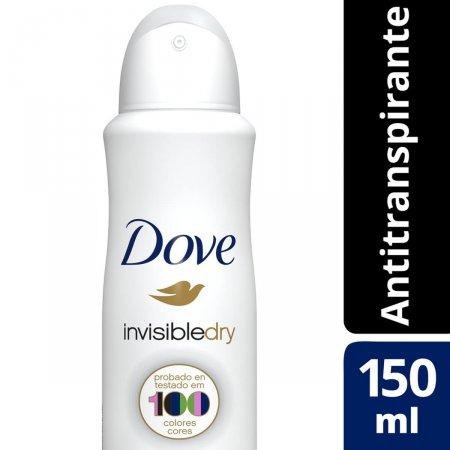Desodorante Antitranspirante Aerosol Dove Invisible Dry 150ml | Drogasil.com Foto 2