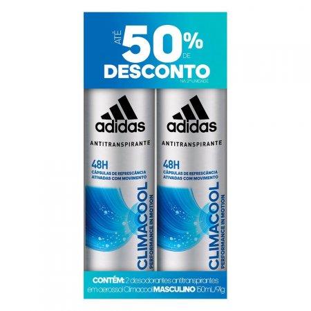 Kit Desodorante Aerossol Masculino Adidas Climacool