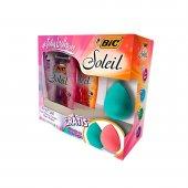 Kit Aparelho de Depilar Bic Soleil com 4 unidades + Esponja de Maquiagem