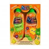 Kit Shampoo + Condicionador Beauty Slime Laranja Neon com 200ml