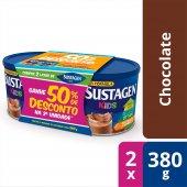 Kit Complemento Alimentar Infantil Sustagen Kids Sabor Chocolate