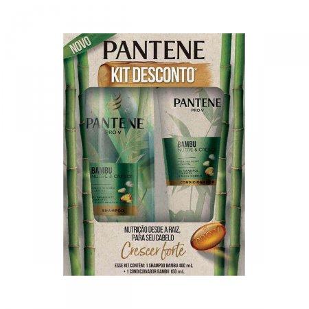 Kit Pantene Bambu Shampoo 400ml + Condicionador 150ml   Drogasil.com Foto 1