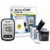 Kit para Controle de Glicemia Accu Chek Guide Me com 1 Monitor + 50 Tiras