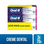 Kit Pasta de Dente Oral-B 3D White com 3 unidades de 70g