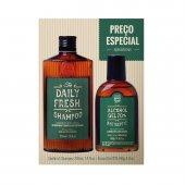 Kit QOD Barber Shop Shampoo + Álcool Gel