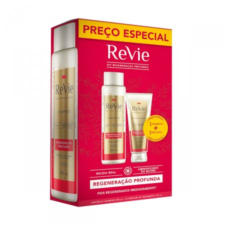 REVIE SHAMPOO 350ML + MASCARA CAPILAR 170ML REGENERACAO PROFUNDA