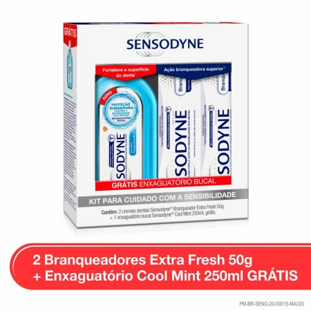 Kit Sensodyne Creme Dental + Enxaguatório Bucal
