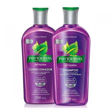 Kit Shampoo + Condicionador Phytoervas Antiqueda 250ml Cada | Drogasil.com