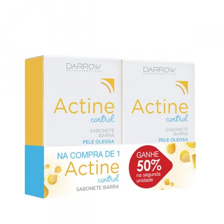 ACTINE CONTROL COM 2 SABONETE BARRA 80G COM 50% DE DESCONTO NA SEGUNDA UNIDADE