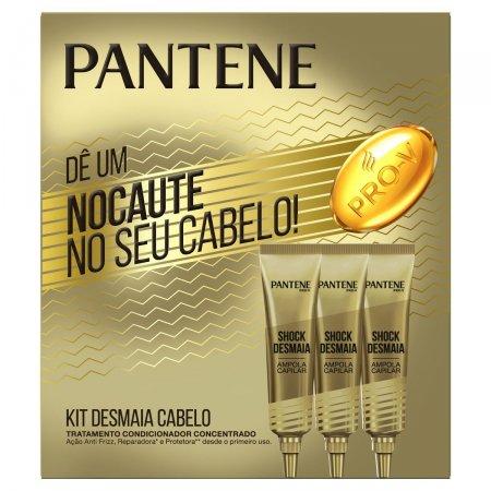 PANTENE AMPOLA DE TRATAMENTO NOCAUTE NO SEU CABELO COM 3 UNIDADES 15 ML CADA