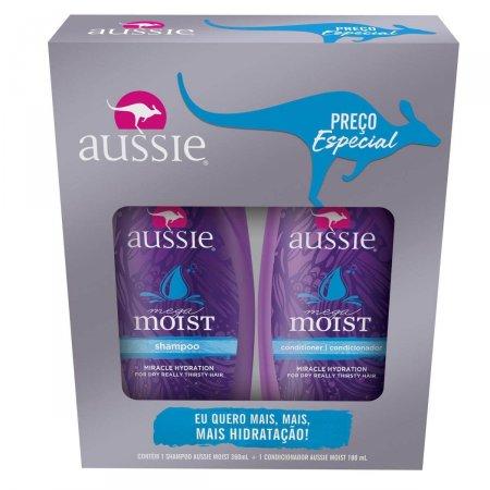 Kit Shampoo + Condicionador Aussie Moist