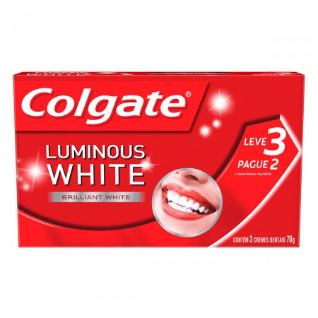 Kit Creme Dental Colgate Luminous White Brilliant White