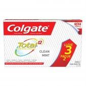 COLGATE CREME DENTAL TOTAL 12 CLEAN MINT 70G LEVE 3 PAGUE 2