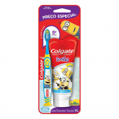 Kit Colgate Smiles Minions Escova de Dente Infantil + Pasta de Dente com 100g