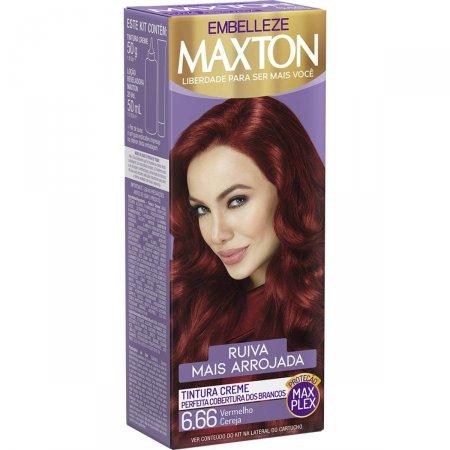 Kit Coloração Maxton Vermelho Cereja 6.66