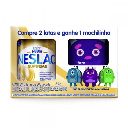 Kit Composto Lácteo Neslac Supreme