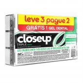 CLOSE UP CREME DENTAL TRIPLE MENTA 70G LEVE 3 PAGUE 2