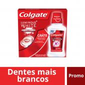 COLGATE CREME DENTALLUMINOUS WHITE LEVE 3 DE 70G CADA GRATIS ENXAGUANTE LUMINOUS WHITE 250ML