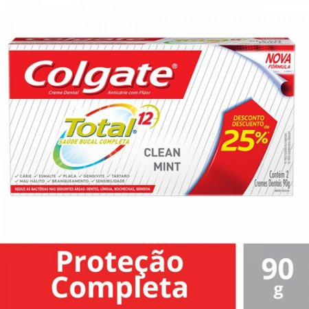 Kit Creme Dental Colgate Total 12 Clean Mint