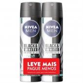 Kit Desodorante Aerossol Nivea Men Invisible Black & White Fresh