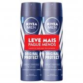 Kit Desodorante Aerossol Nivea Men Original Protect