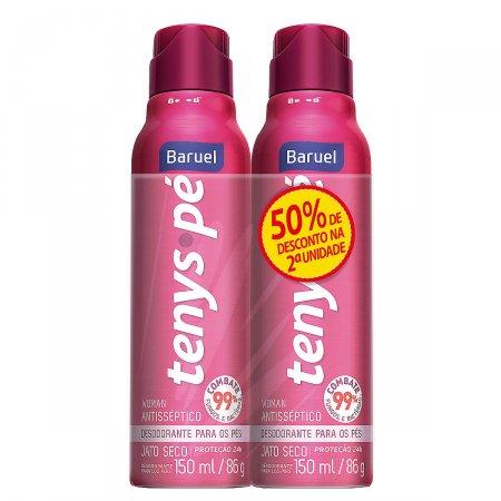 Kit Desodorante para os pés Jato Seco Tenys Pé Woman